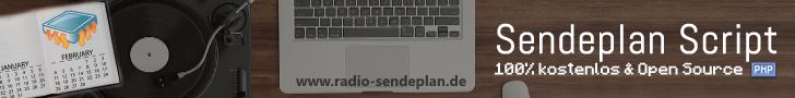 Sendeplan PHP Script inkl. Wunsch- und Grußbox